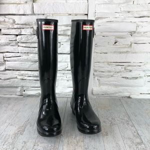 Hunter Original Tall Rain Boot Black  Sz 9